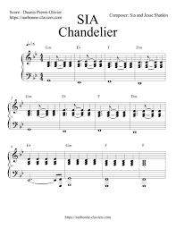 Sia Chandelier Free Gratuit Téléchargez La Partition Complète De Chandelier Sia Pour