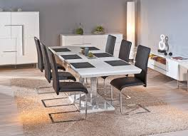 Table Ronde Blanche Avec Rallonge Pied Central by Meubles Emejing Salle A Manger Moderne Avec Table Ronde Photos