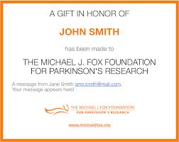 the michael j fox foundation donation form