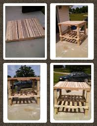 How To Make Bar Stools Another Homemade Pallet Table But Bar Stool Height Need To Know