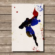 superman home decor superman man of steel watercolor illustrations art comic book