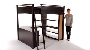 bedroom lovely dark brown wood loft beds for teenagers with desk