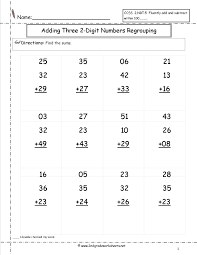 free addition worksheets with regrouping worksheets