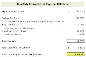 Irs Tax Estimate Forms by How To Calculate And Pay Quarterly Estimated Taxes