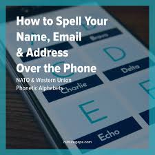 how to spell your name email address the phone nato
