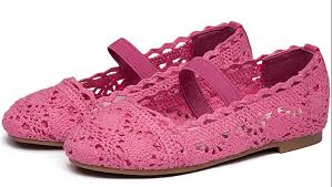 kid shoes summer shoes hot pink girl shoes hollow style large