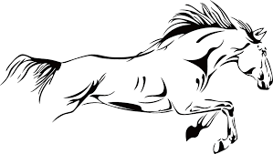 pentium horse vinyl wall stickers on the wall removable home decor