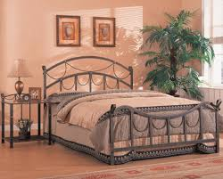 White Furniture Company Bedroom Set Antique Style Brass Finish Metal Bed W Optional Nightstands