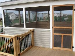 Screened In Porch Decor Diy Screened In Porch Custom Screened Porch U0026 Cedar Deck