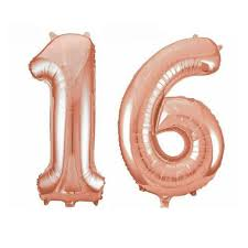 32 inches happy 16th birthday celebration decoration number 16