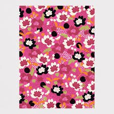 floral wrapping paper jumble pink floral wrapping paper 3 sheets caroline gardner