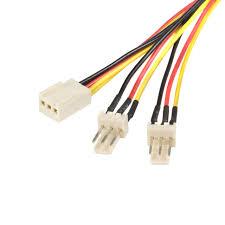 chassis fan connector splitter startech com 12in 30cm tx3 fan power splitter cable amazon co uk
