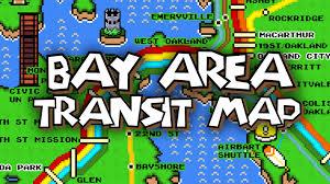 Bart Train Map Super Mario Bay Area Rapid Transit Map Youtube