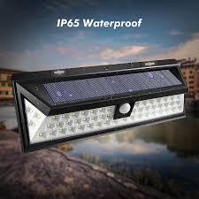 solar powered outdoor motion lights mising waterproof 54 led solar light 2835 smd white solar power
