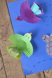 cupcake wrapper birds kids craft frugal mom eh