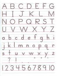 zaner bloser handwriting chart printable zaner bloser