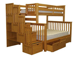 Bedz King Stairway Twin Over Full Bunk Bed With Storage  Reviews - Twin over full bunk bed with storage drawers