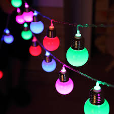 cheap wholesale cheap 5m 20 led bulb spherical multicolor string