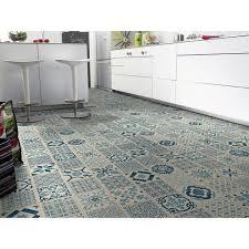 dalles pvc cuisine tarkett starfloor click 30 retro indigo vinyl floor shop at