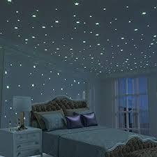 chambre fille etoile stickers muraux 3d étoile lumineux 326 unités d étoiles