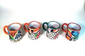 Handmade Mexican Pottery - handmade talavera mexican pottery coffee mug random color free