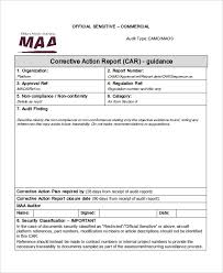section 7 report template corrective report template original captures maa car