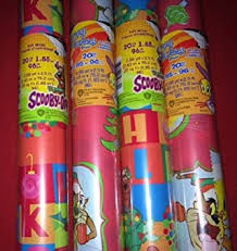 scooby doo wrapping paper 4 rolls pack scooby doo looney tunes christmas wrap