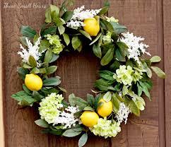 Spring Wreath Ideas Spring Wreath Week Lemon Springtime Wreath These Small Hours