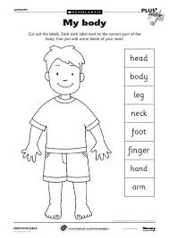 body parts worksheet speech therapy resources kids pinterest