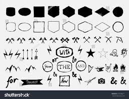 figurative vector hand drawn figurative shapes badges stock vector 323596211