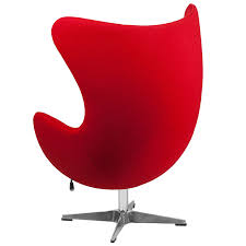 Swan Chair Leather Amazon Com Flash Furniture Red Wool Fabric Egg Chair With Tilt