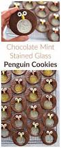 chocolate mint stained glass penguin cookies recipe creative