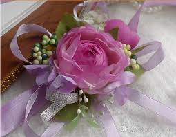 prom wrist corsage 2018 wedding prom wrist corsage silk flower with ribbons