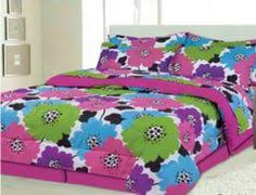 Girls Bed In A Bag by Adorable Pink Blue Green Yellow Flower Twin Comforter Set 6pc Bed