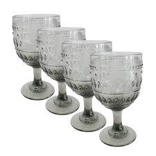 dancing skeletons 21 oz stemless wine glasses set of 4 hw16