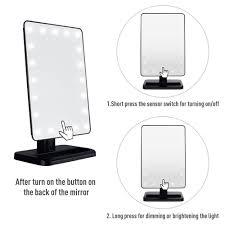 zacro dimmable led make up mirror 20 light bulbs illuminated