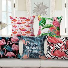 taie d oreiller pour canapé mode flamingo coussin couverture jungle tropicale throw taie d