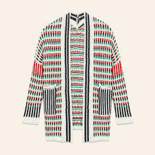 cardigan sweaters marcello multi coloured knit cardigan sweaters maje com