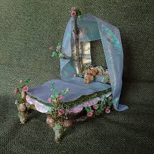 fairy bed miniature fairy bed with roses this little fairy bed sculp flickr