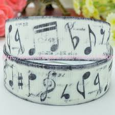 printed ribbon wholesale free shipping 7 8 22mm vintage note printed ribbons grosgrain