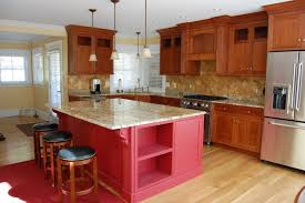 Cherry Red Kitchen Cabinets Rye Custom Cabinetry Kitchen Cabinets Bath U0026 More