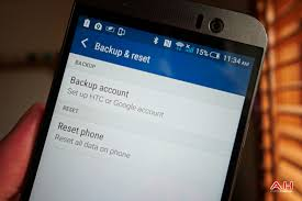 android perform a factory reset on htc one m9