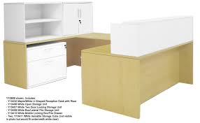 u shaped reception desk white two tone reception desks in stock free shipping
