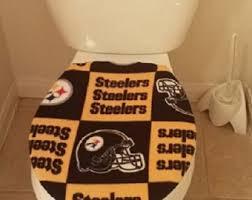 Pittsburgh Steelers Bathroom Set Pittsburgh Toilet Etsy