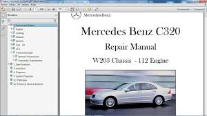 car repair manuals online free 2009 mercedes benz clk class engine control mercedes benz c320 w203 manual de taller workshop repair