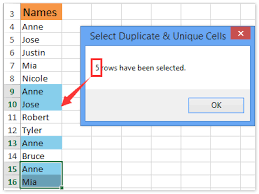 how to find and count duplicate cells values in a single row in excel