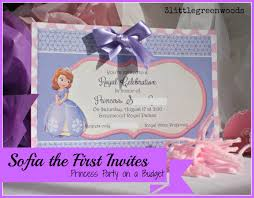 2nd Birthday Invitation Card Sofia The First Birthday Invites