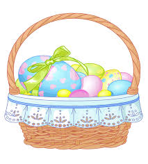 best easter basket easter basket with eggs transparent clipart gallery