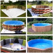 diy pallet swimming pool tutorial backyard fun pinterest