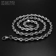titanium necklace men images Kuguys titanium steel accessories figaro chains necklace men jpg